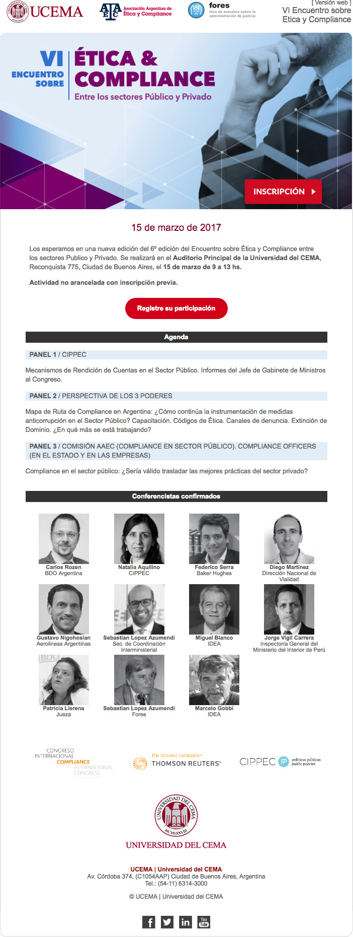 VI Encuentro sobre Etica y Compliance